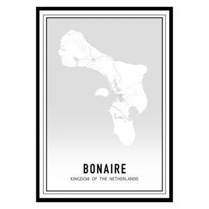 Bonaire city maps poster
