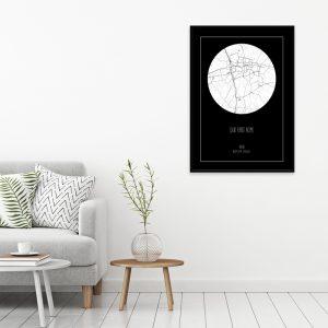 Je eigen stad of dorp dark cirkel poster