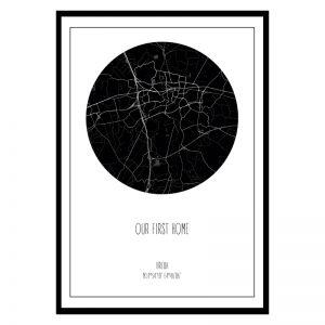 Je eigen stad of dorp cirkel poster