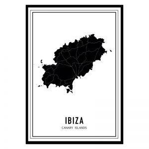 Ibiza Dark city maps poster