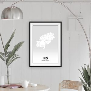Ibiza city maps poster