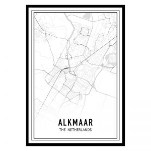 Alkmaar city maps poster
