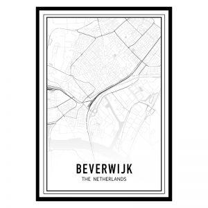 Beverwijk city maps poster