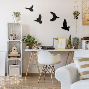 Metalen wanddecoratie - Birds