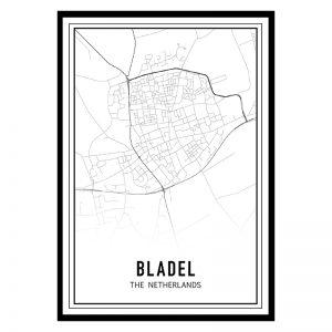 Bladel city maps poster