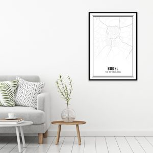 Budel city maps poster