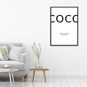 Coco Chanel Fashion poster