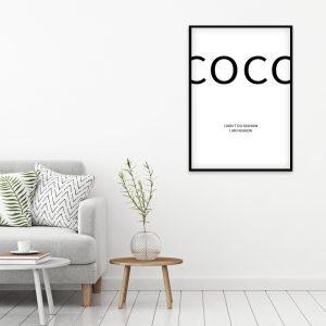 Coco Chanel Fashion poster