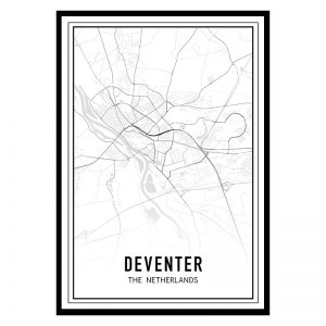 Deventer city maps poster