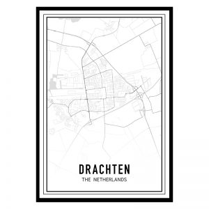 Drachten city maps poster