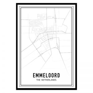 Emmeloord city maps poster