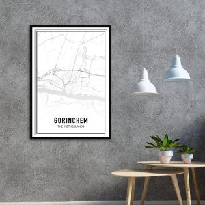 Gorinchem city maps poster