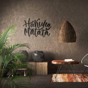 Metalen wanddecoratie - Hakuna Matata