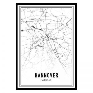 Hannover city maps poster