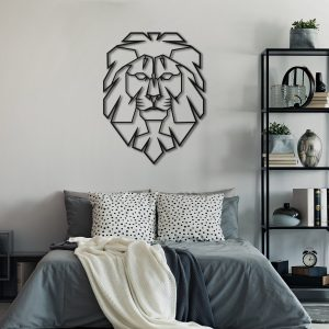 Metalen wanddecoratie - Lion