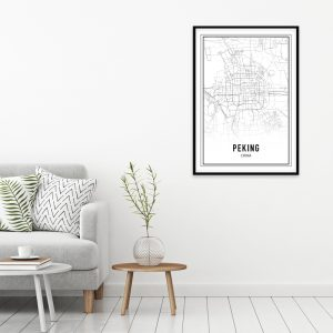 Peking city maps poster