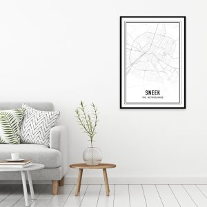 Sneek city maps poster