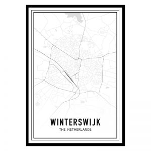 Winterswijk city maps poster