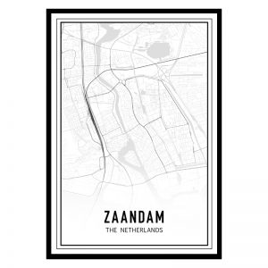 Zaandam city maps poster