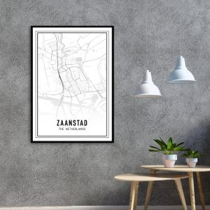 Zaanstad city maps poster