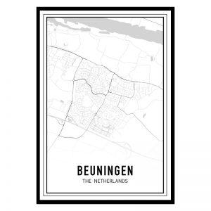 Beuningen city maps poster