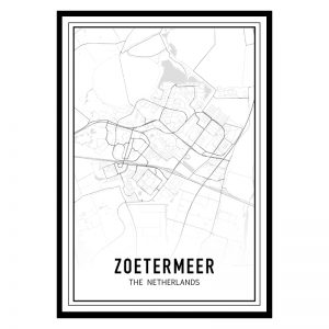 Zoetermeer city maps poster