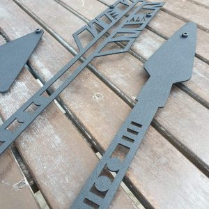 Metalen wanddecoratie - Arrows