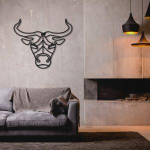 Metalen wanddecoratie - Taurus