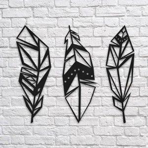 Metalen wanddecoratie - GeoFeathers