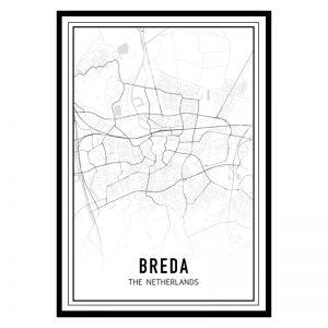 Breda city maps poster