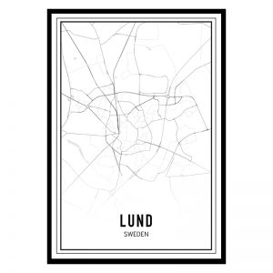 Lund city maps poster