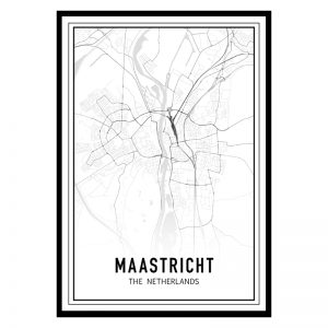 Maastricht city maps poster