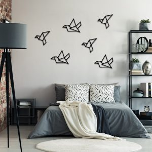 Metalen wanddecoratie - Simple Birds