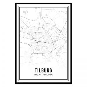 Tilburg city maps poster