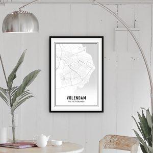 Volendam city maps poster