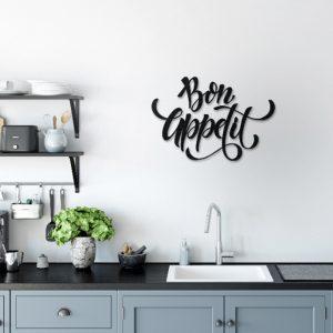 Metalen wanddecoratie - Bon Appetit