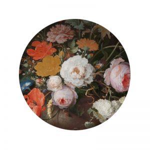 Behangcirkel - Bloemen Mignon