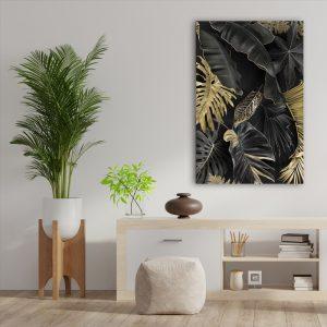 Aluminium Dibond Plexiglas botanisch Dark Nature poster