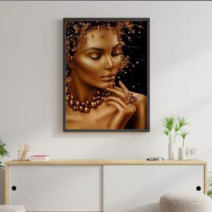 Gold Women zwart goud poster