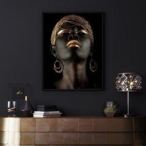Luxery Women zwart goud poster