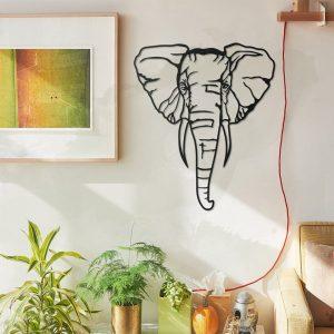 Metalen wanddecoratie - Elephant