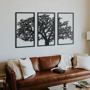 Metalen wanddecoratie - Tree