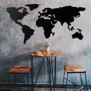 Metalen wanddecoratie - World Map 6