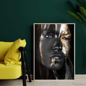 Mystery Women zwart goud poster