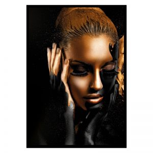 Painted Women zwart goud poster