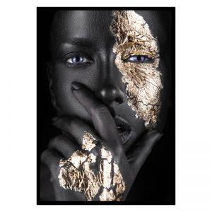 Silent Women zwart goud poster