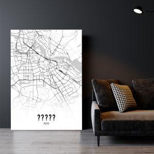 Aluminium Dibond Plexiglas City Map poster