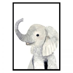Baby Olifant kinderposter