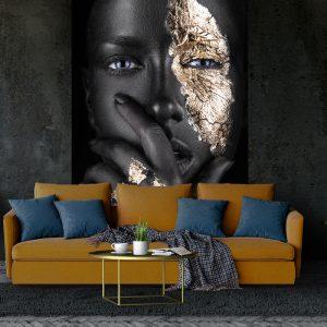 Fotobehang - Silent Women Black Gold