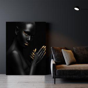 Dancing Women zwart goud poster